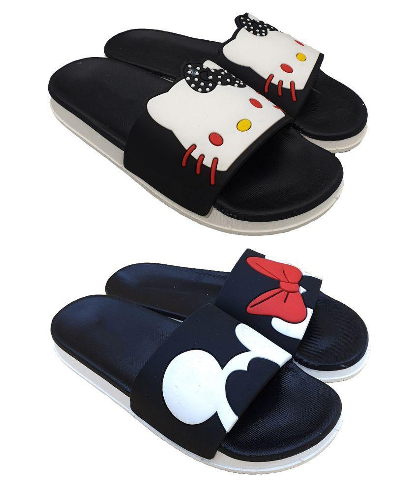 Pampy Angel Black Slides