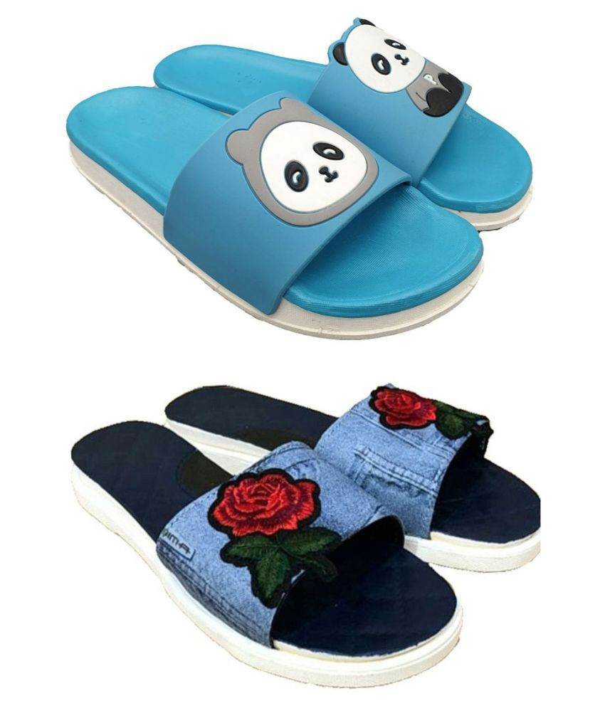 Pampy Angel Blue Slides
