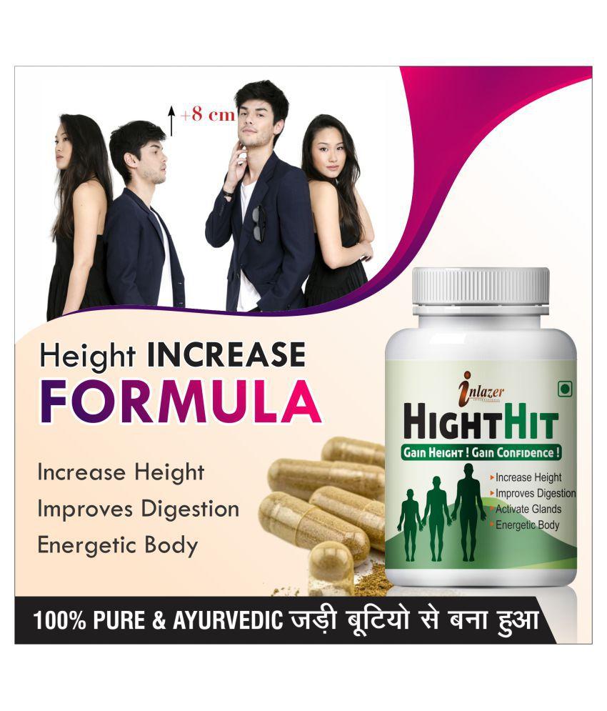 Inlazer Height hit increases bone mass  Capsule 60 no.s Pack Of 1