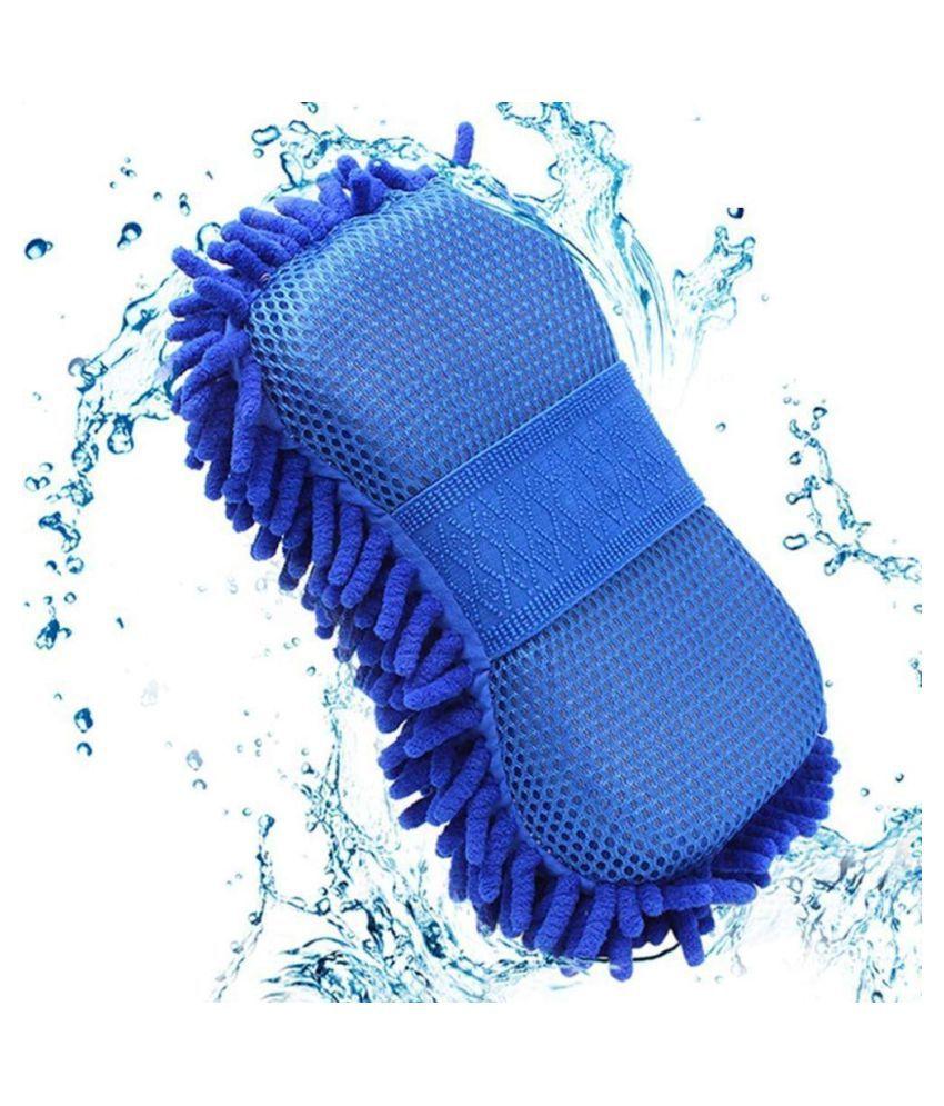 Mikha Multipurpose Microfiber Cleaning Sponge for Cleaning Car/Bike Home - Random Color