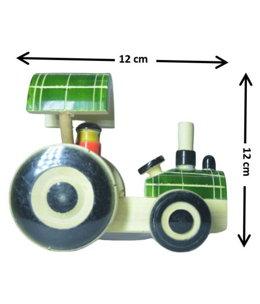 Wooden Handcrafted tractor Pulling toy for kids - Channapatna Toys - Showpiece
