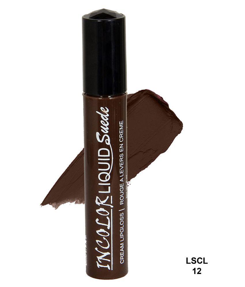 Incolor Lip Gloss Liquid Maroon 6 mL