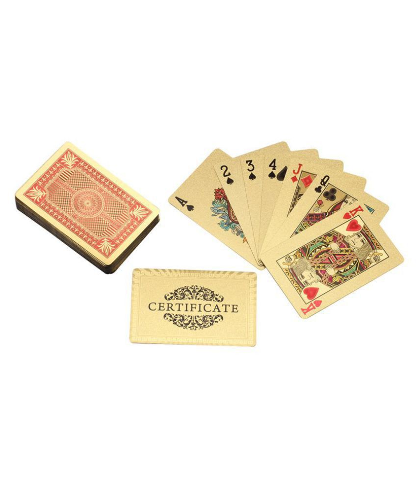 Aarya 24kt Gold Plated Playing Card - Circle Of Sward Red