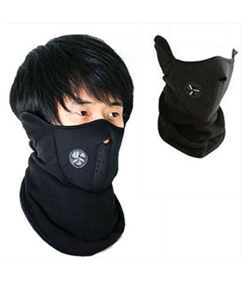 FACE MASK WITH BACK GRIP FOR MEN (Anti Pollution Dust Sun Protecion Half Face Cover Mask)