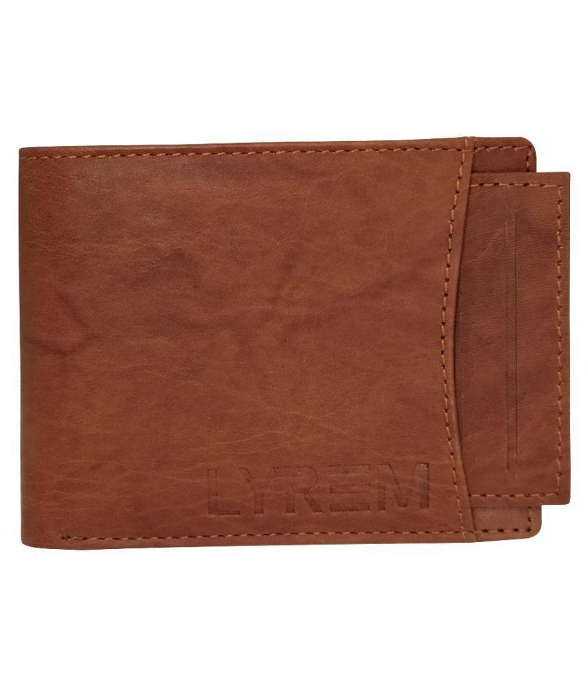 LYREM Leather Brown Casual Regular Wallet
