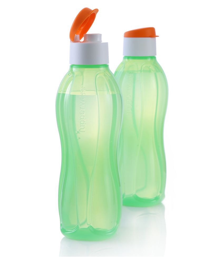 Tupperware Aquasafe Plastic Fliptop Tricolor Freedom Water Bottle 1l 2pc