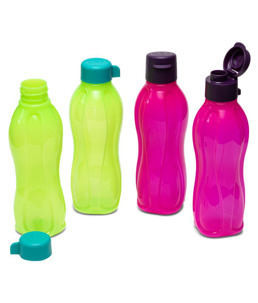 Tupperware Aquasafe Plastic Fliptop and Normal Cap Water Bottle 500ml 4pc