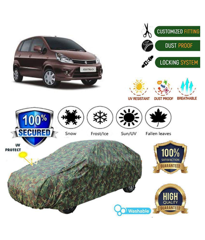 QualityBeast Jungle Car cover for Maruti Suzuki Zen Estilo (2009-2014)