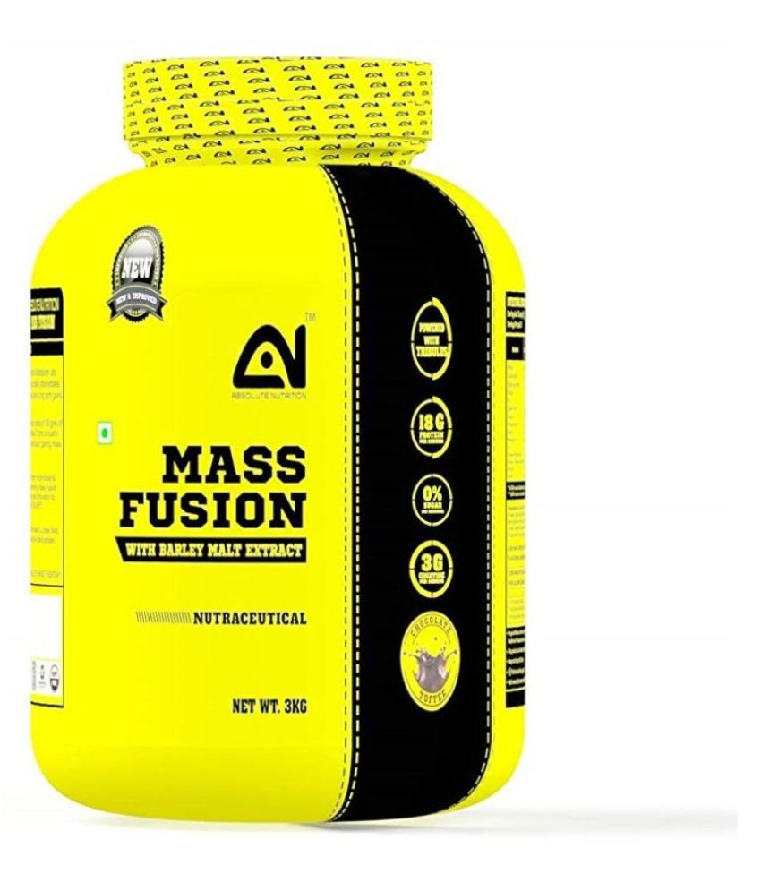 Absolute Nutrition Mass Fusion Chocolate Toffee Flavor 3 kg Chocolate