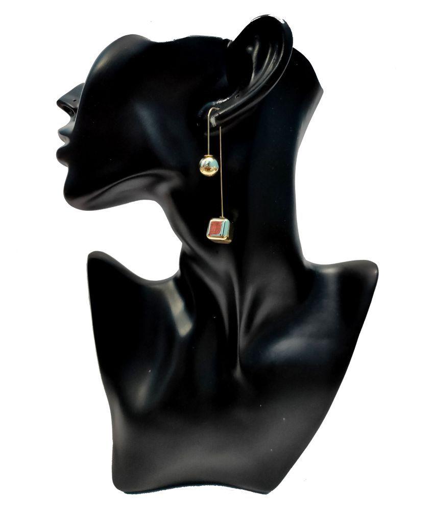 Unique Design High Class Luxury Golden Finish Fancy Stylish Earrings