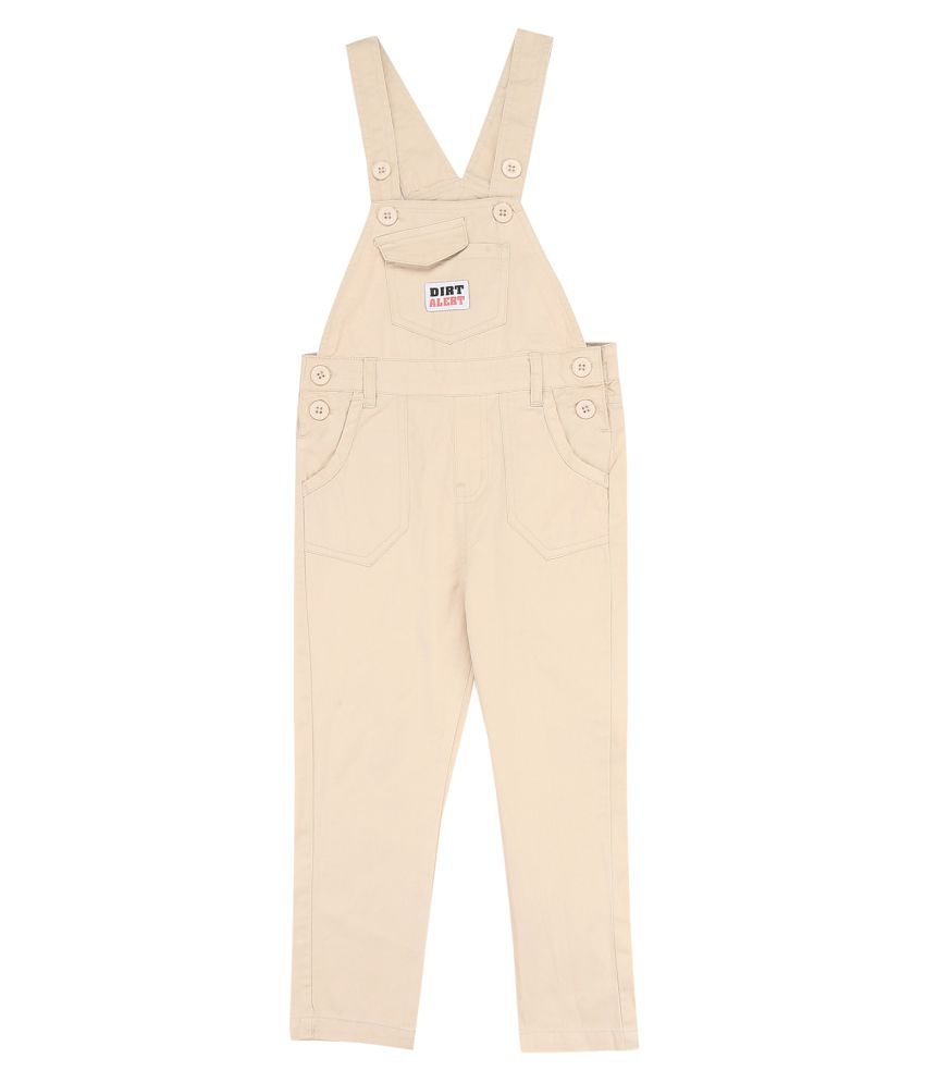 Boys Solid Woven Dungarees