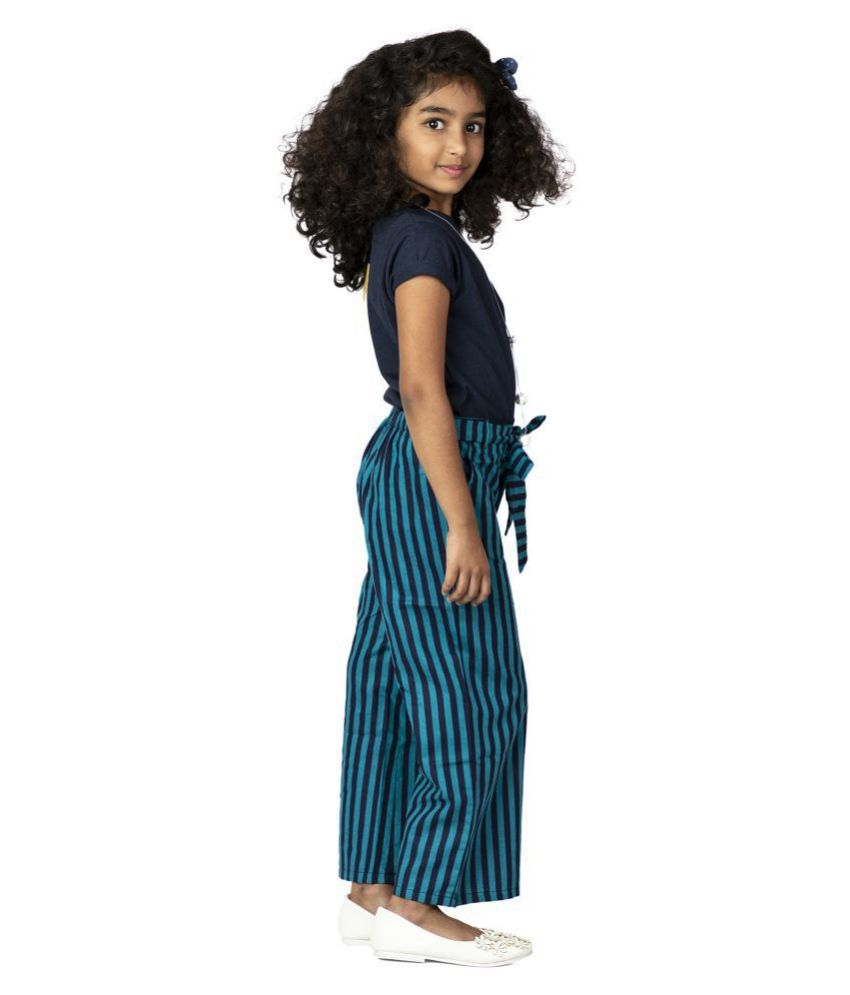 Pikaboo Teal Blue Culottes with a Navy top (2-3 Years)