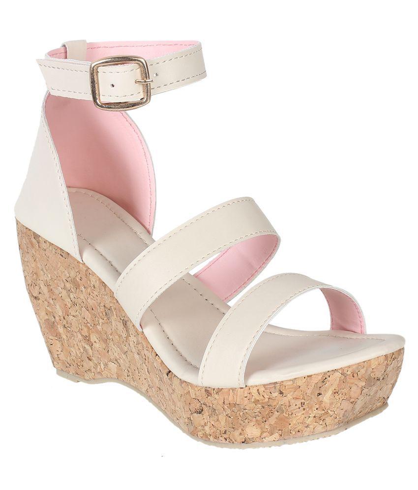 Shoe Cloud Cream Platforms Heels