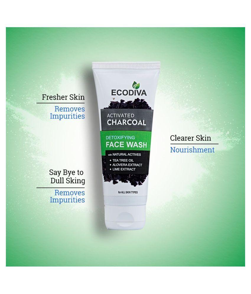 Ecodiva Activated Charcoal Detoxifying Face Wash 100 mL