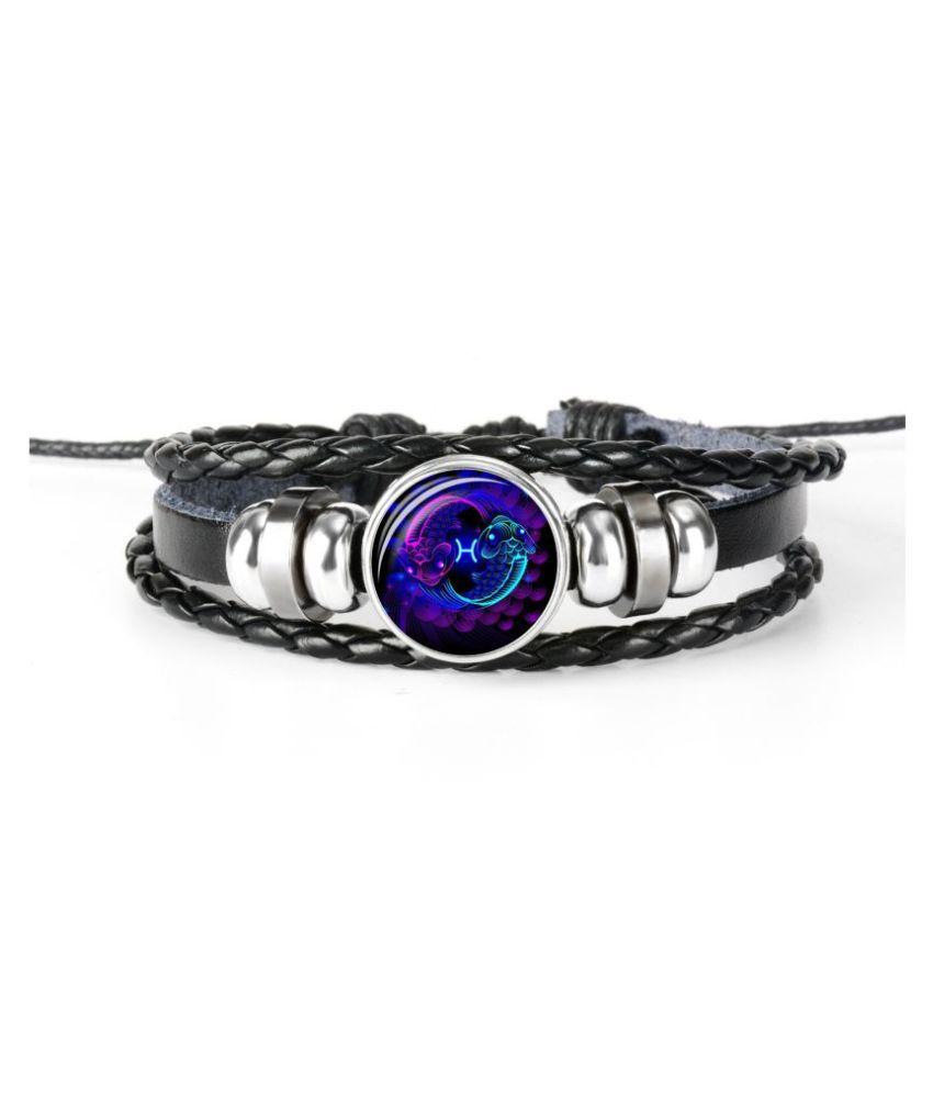 Chocozone Pisces Zodiac Mens Bracelets & Bracelet for Boys