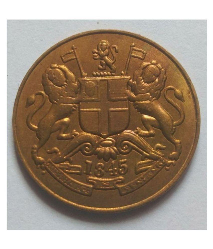 HALF ANNA 1845 EAST INDIA COMPANY 12.35 gram Coin