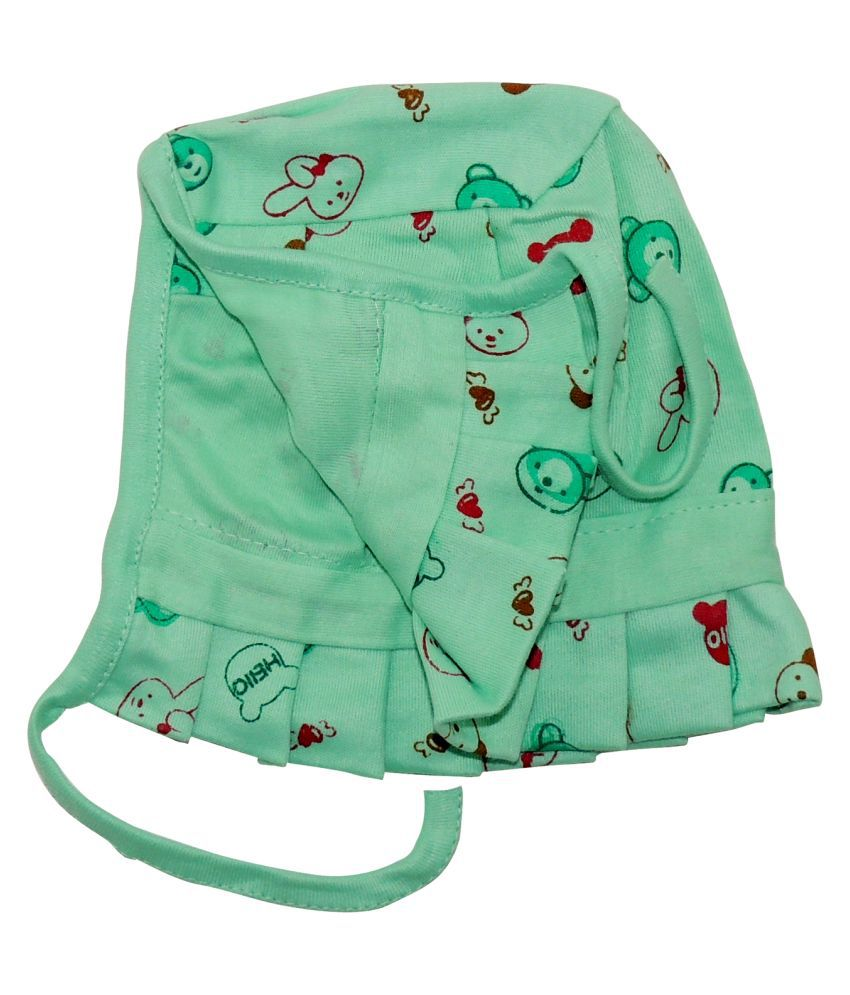 Life Begin with Satyamani Baby Deluxe Cap Printed Extra Large size (Pack of 3)