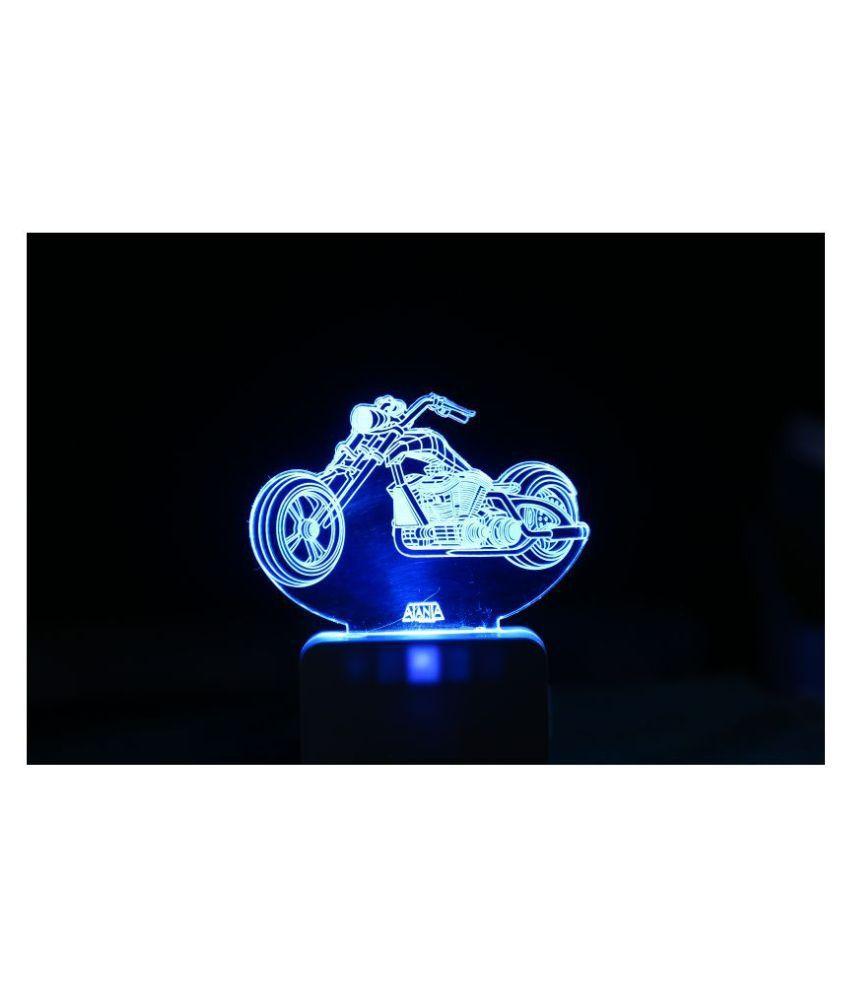 SUPER AJANTA Racer Bick 2026 3D Night Lamp Multi - Pack of 1