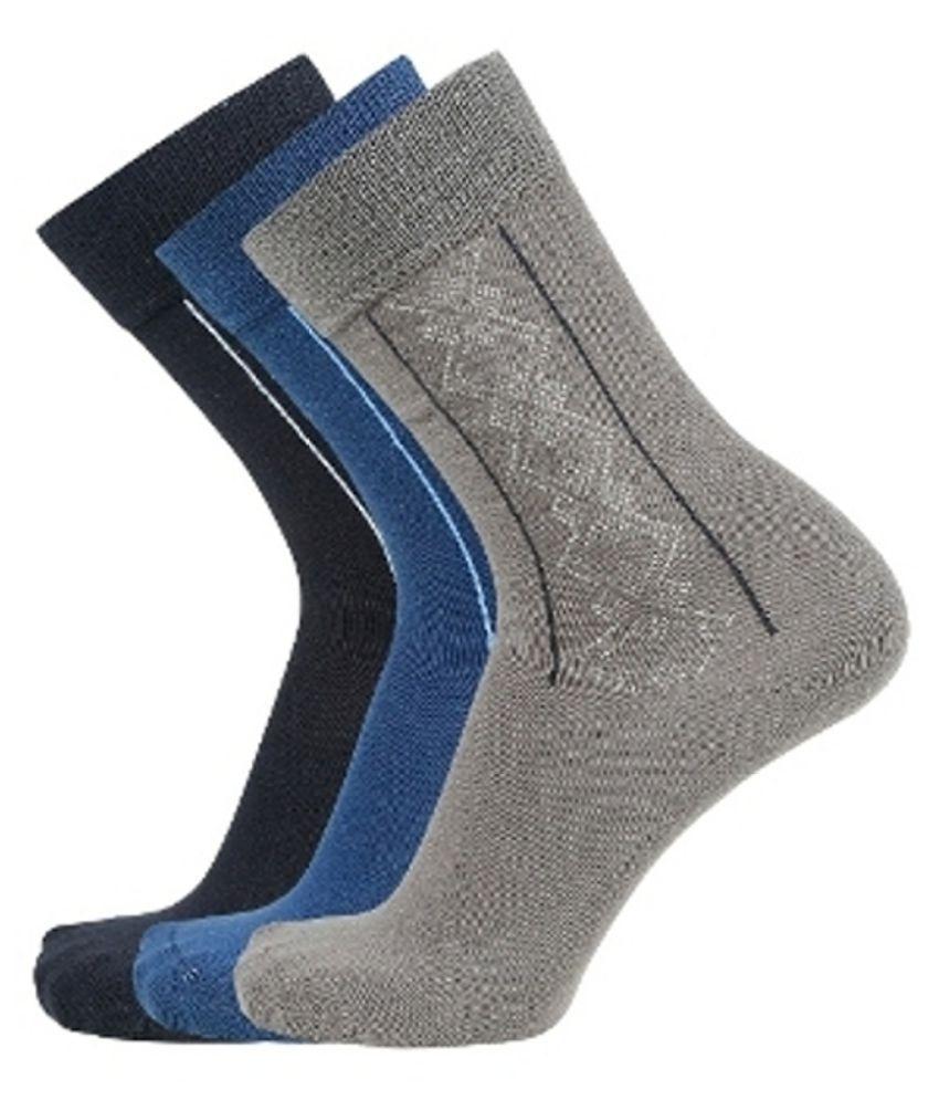 Montebello Multi Formal Mid Length Socks Pack of 3