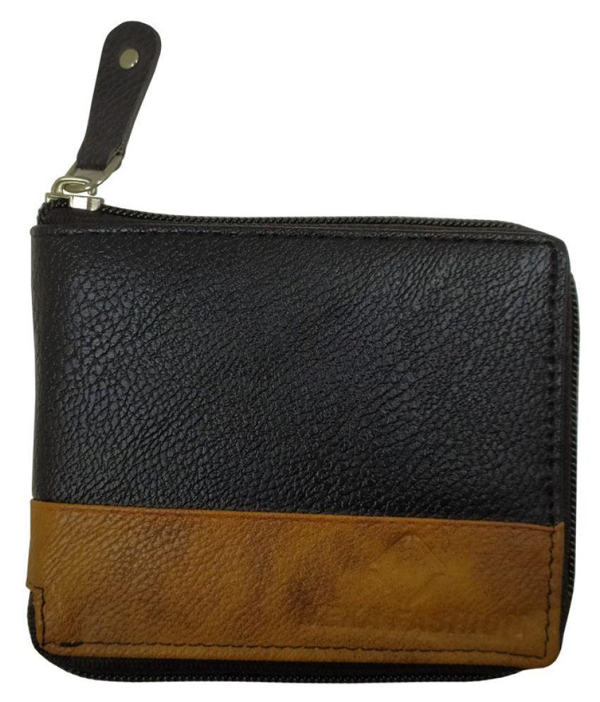 Nexa Fashion PU Black Casual Anti-theft Wallet