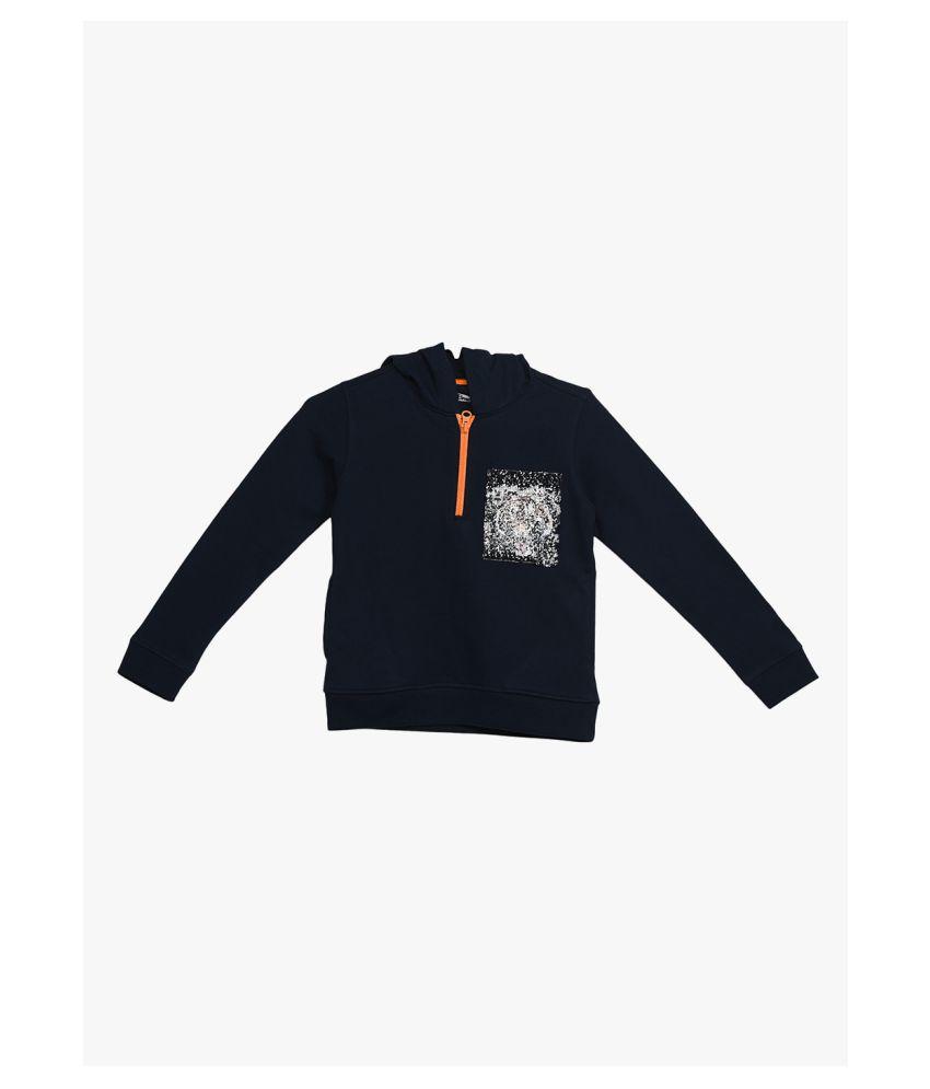 2Bme Kids Boys Navy Blue Fashion Sweatshirt