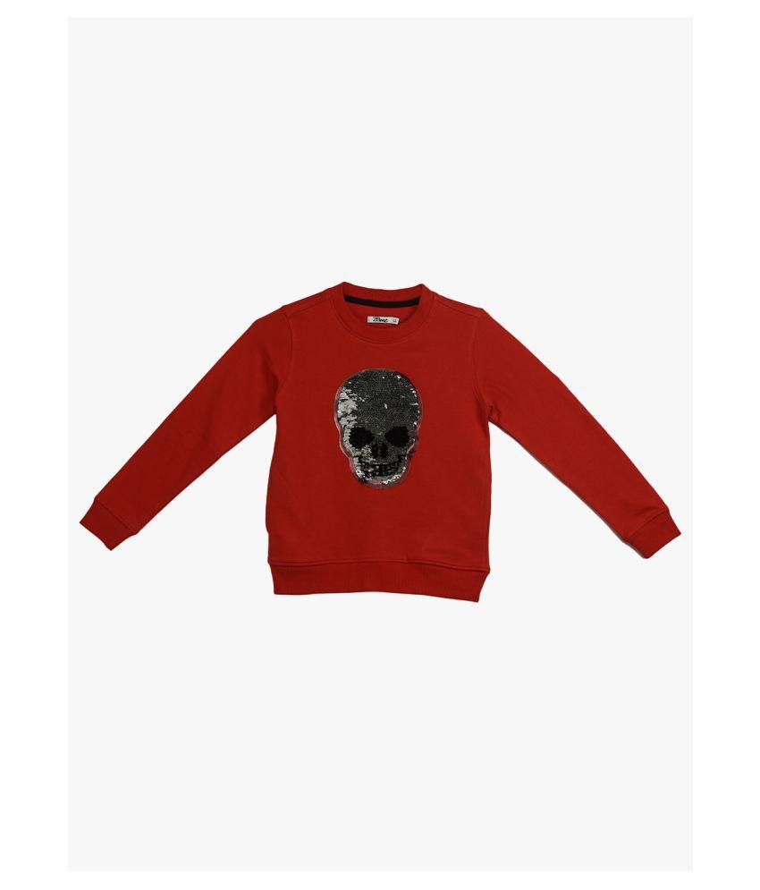 2Bme Kids Boys Red Fashion Sweatshirt