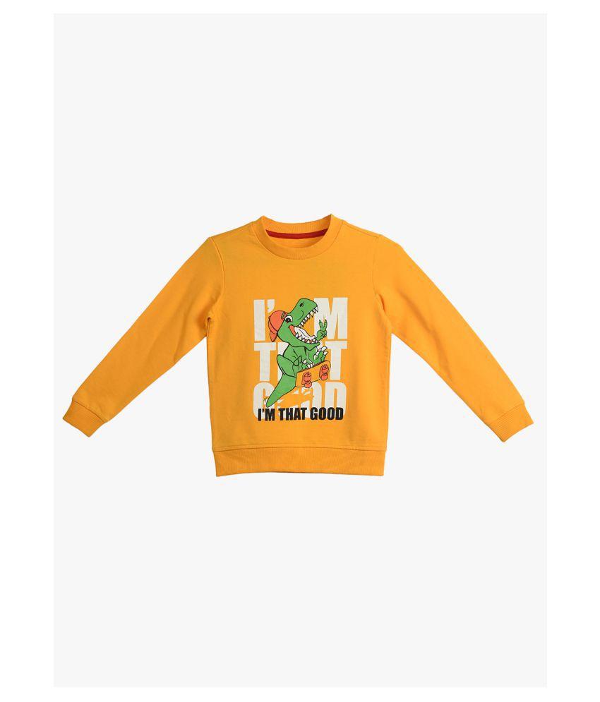 2Bme Kids Boys Yellow Sweatshirt