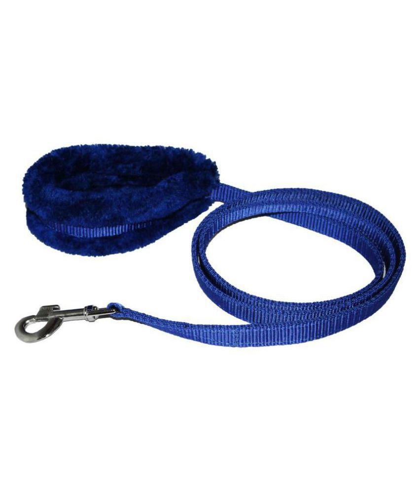 Petshop7 Petshop7 Premium Quality Nylon 1 inch Fur Dog Leash - Length 52inch- Dog Leash  (Medium, Blue)