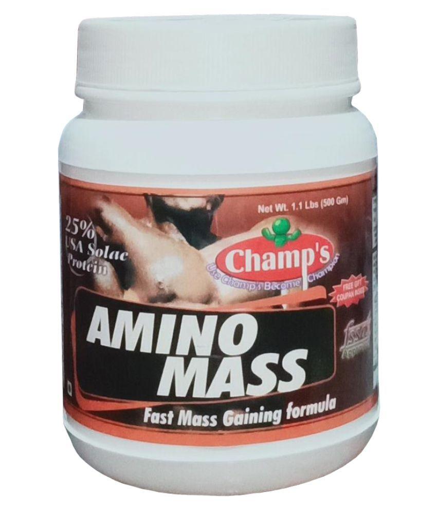 Champs AMINO MASS (Chocolate) 500 gm Weight Gainer Powder