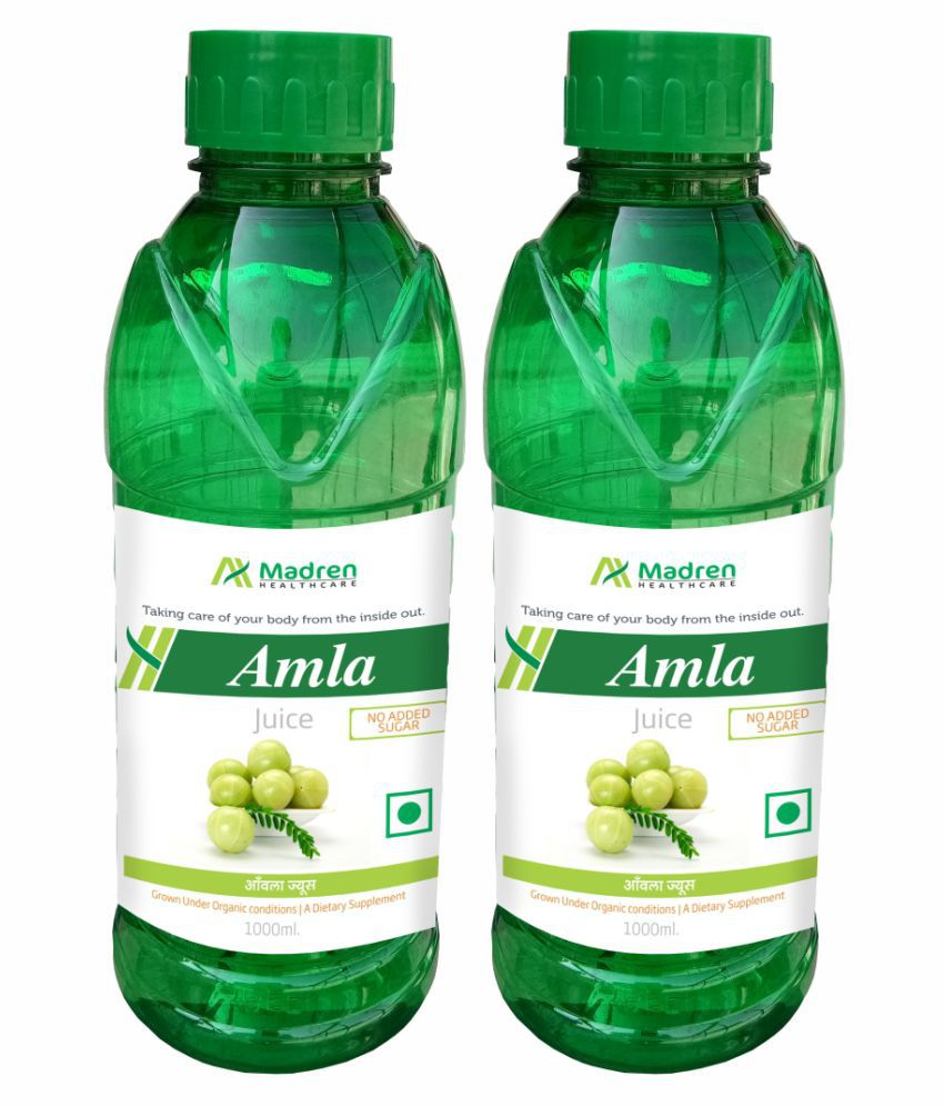 Madren Healthcare Amla Juice Sugar Free Health Drink 2000 ml Pack of 2