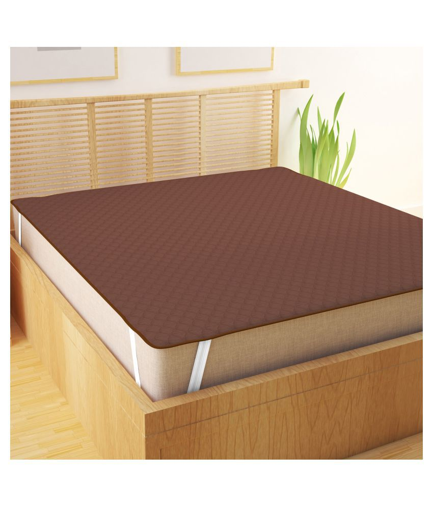 Story@Home Maroon Cotton Mattress Protector