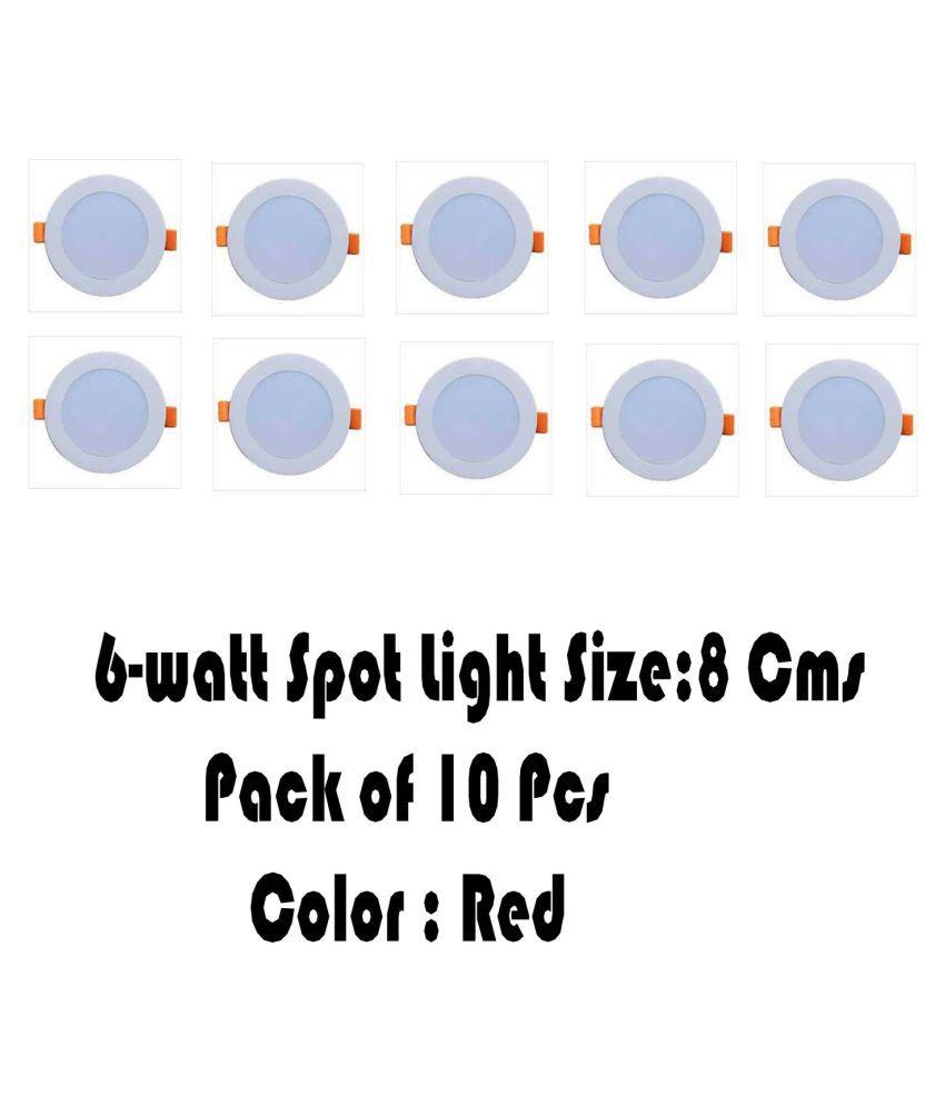 Senthur 6W Round Ceiling Light 8 cms. - Pack of 10