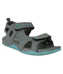 Campus Gray Synthetic Floater Sandals