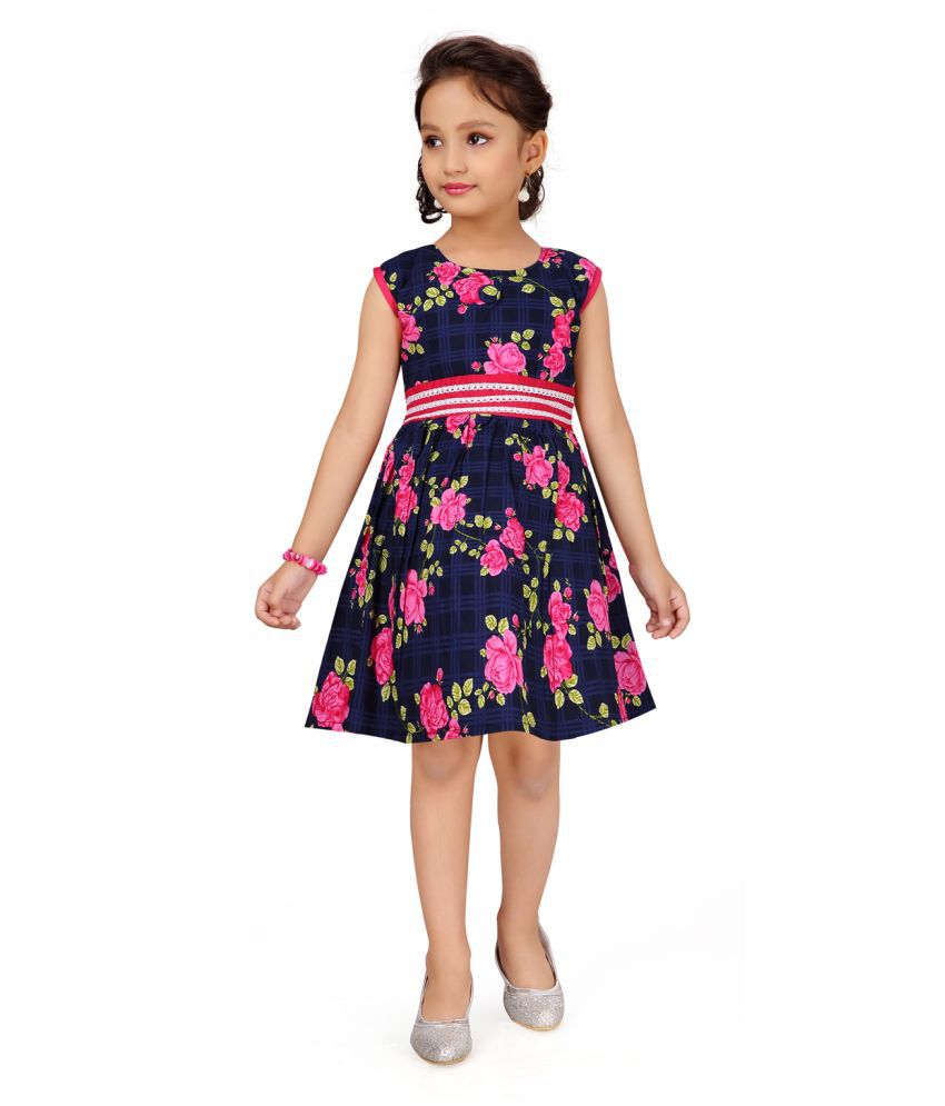 Aarika Girl's pink coloured Casual Wear FROCK