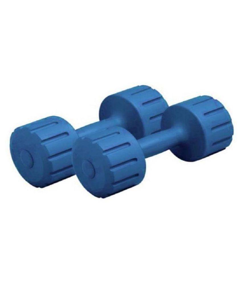 VK PVC Dumbbells 1KG X 2  Blue  Gym Equipment Dumbbell