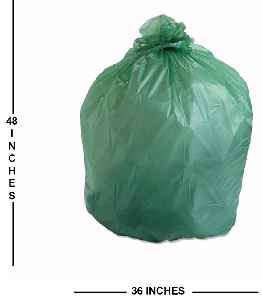 Kitchen and Industrial Use Plastic Biodegradable Trash 36*48 Inches Compostable Garbage Bag (Pack of 12)