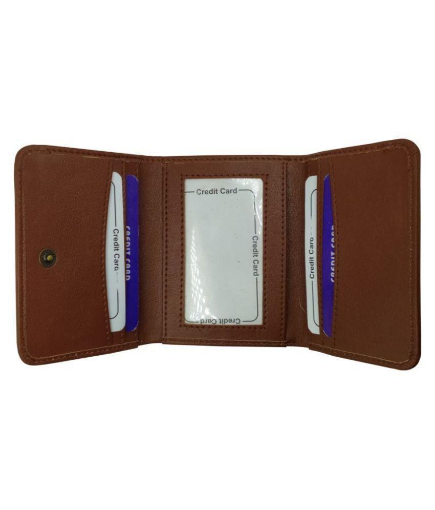 LYREM PU Tan Formal Regular Wallet