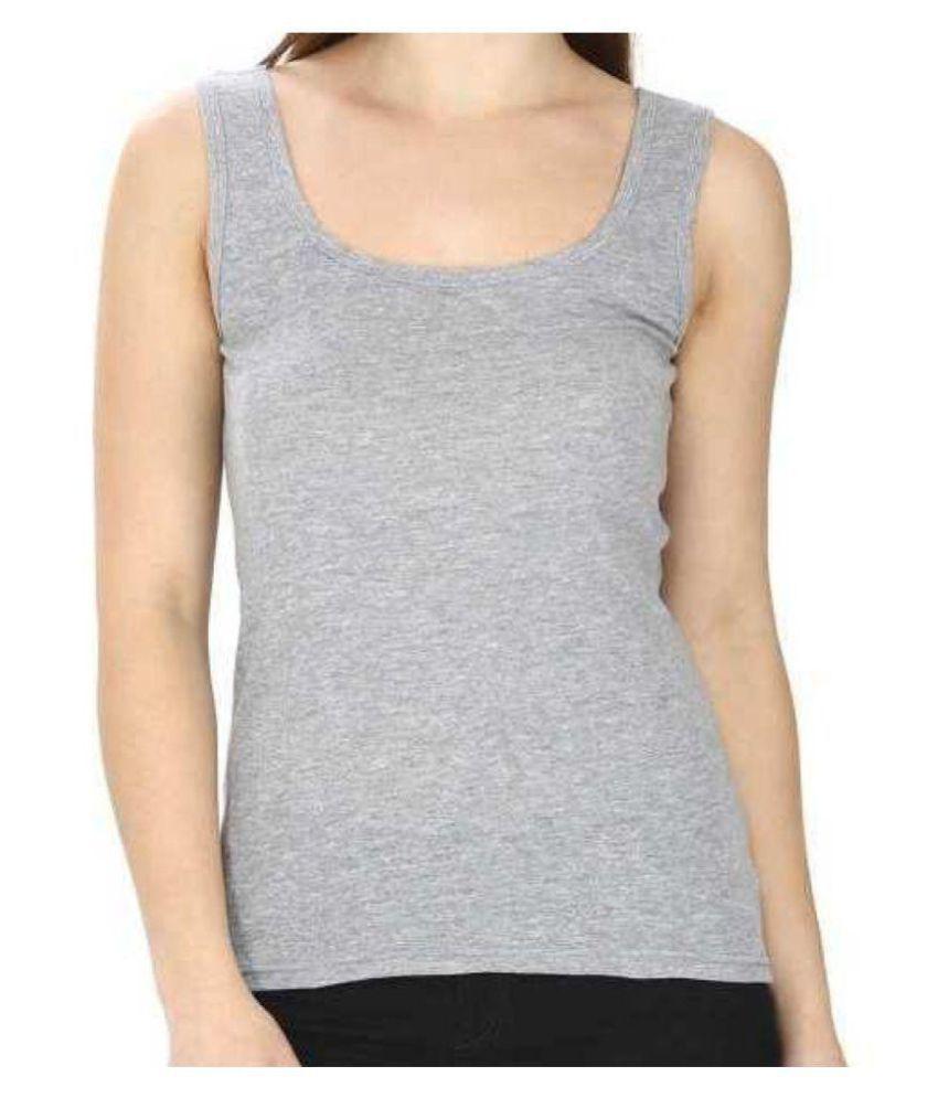 Skandas Trendz Cotton Lycra Camisoles - Grey