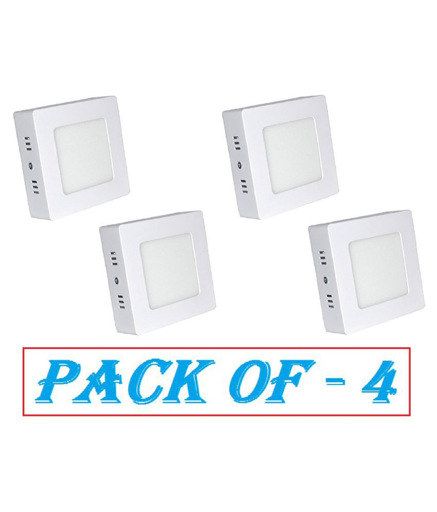 D'Mak Surface 8W Square Ceiling Light 10.5 cms. - Pack of 4