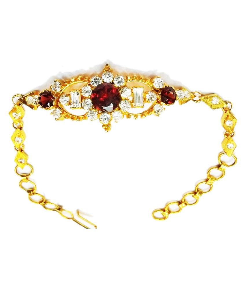 Vinayak Bracelet with real garnet and C Z