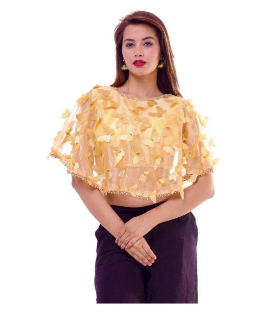 Bulbul Gold Silk Readymade with Pad Blouse