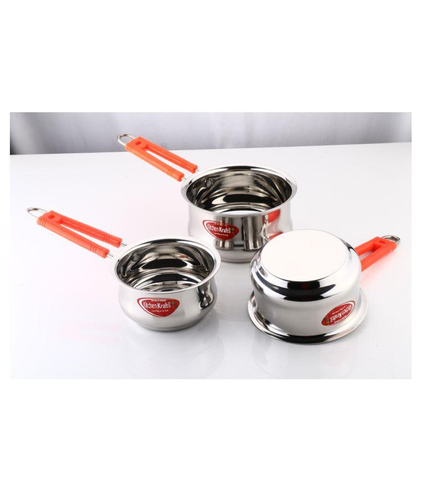 Kitchen Krafts No Coating Stainless Steel Sauce Pan 20 cm mL