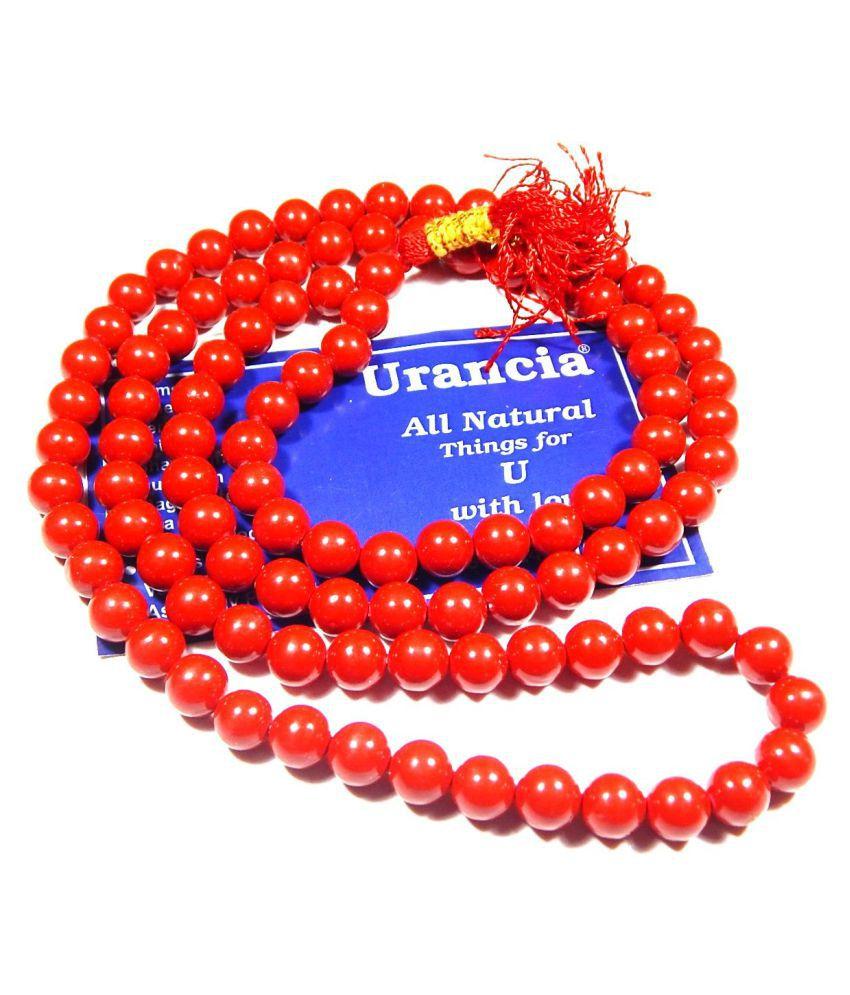 Urancia® Red Coral Lal moonga Mala Rosary 1Pcs