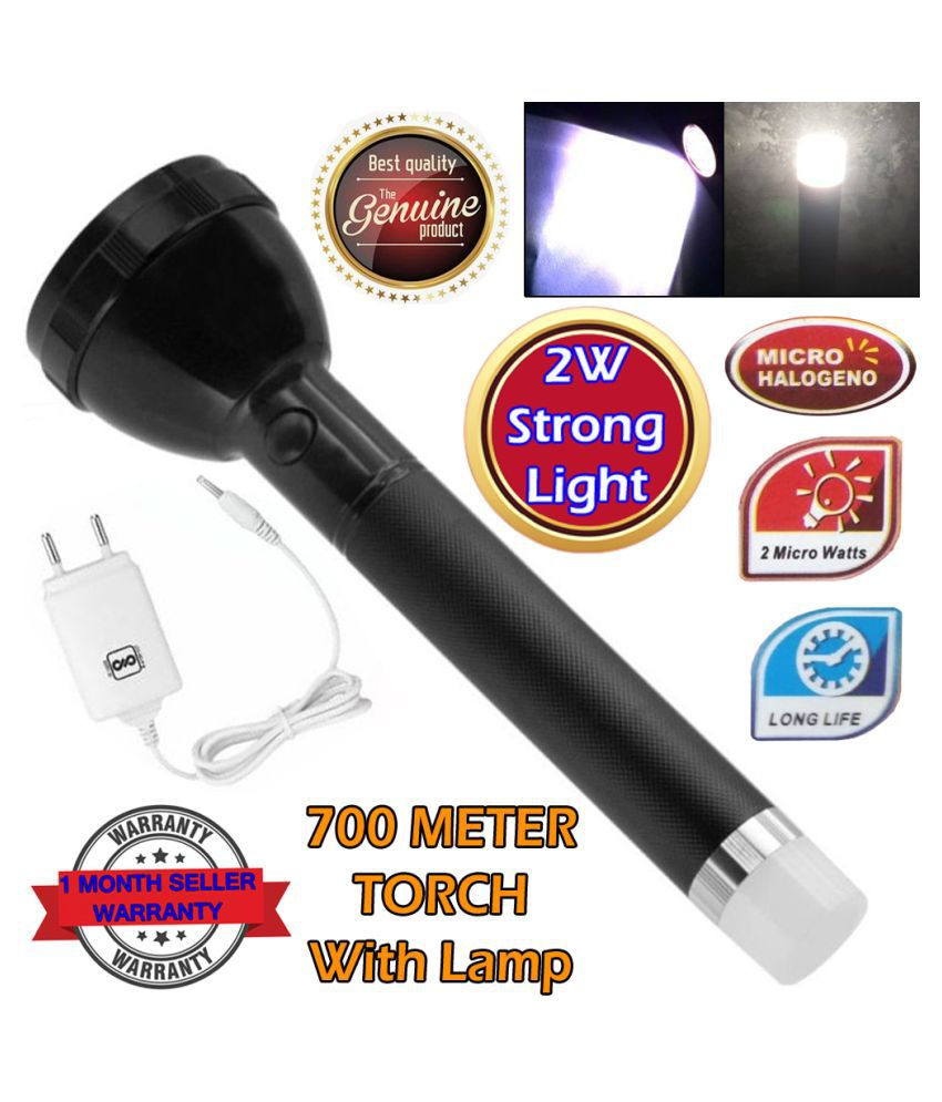 SS 2W Flashlight Torch Dual Mode LED Bulbs - Pack of 1