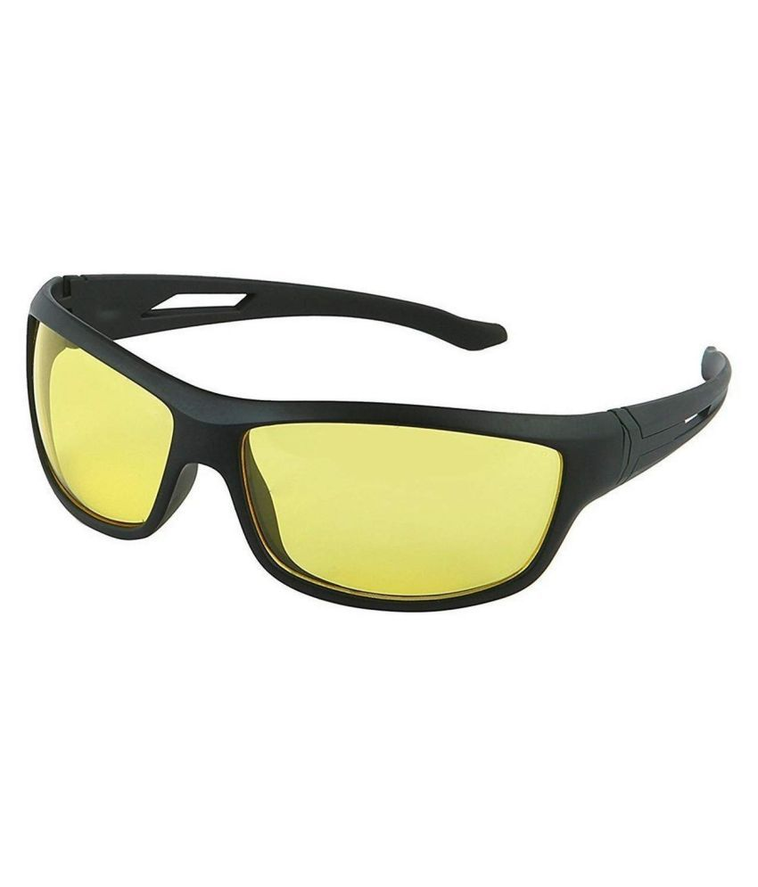 UV Protection Night Drive Unisex Sunglasses Yellow Color Pack of 1