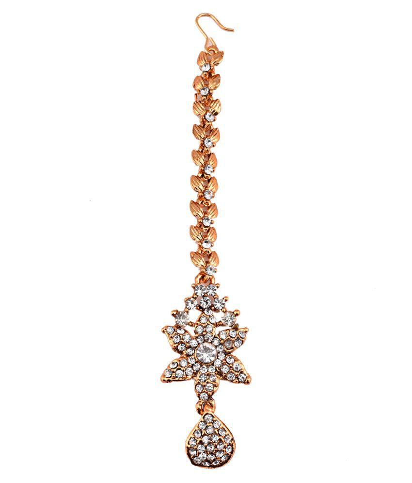Mehak Gupta Copper Golden Designer Maang Tika