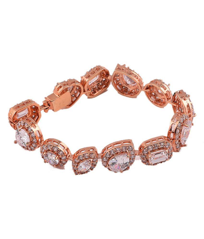 Mehak Gupta Copper Golden Multicolor Designer Bracelet For Women/Girls