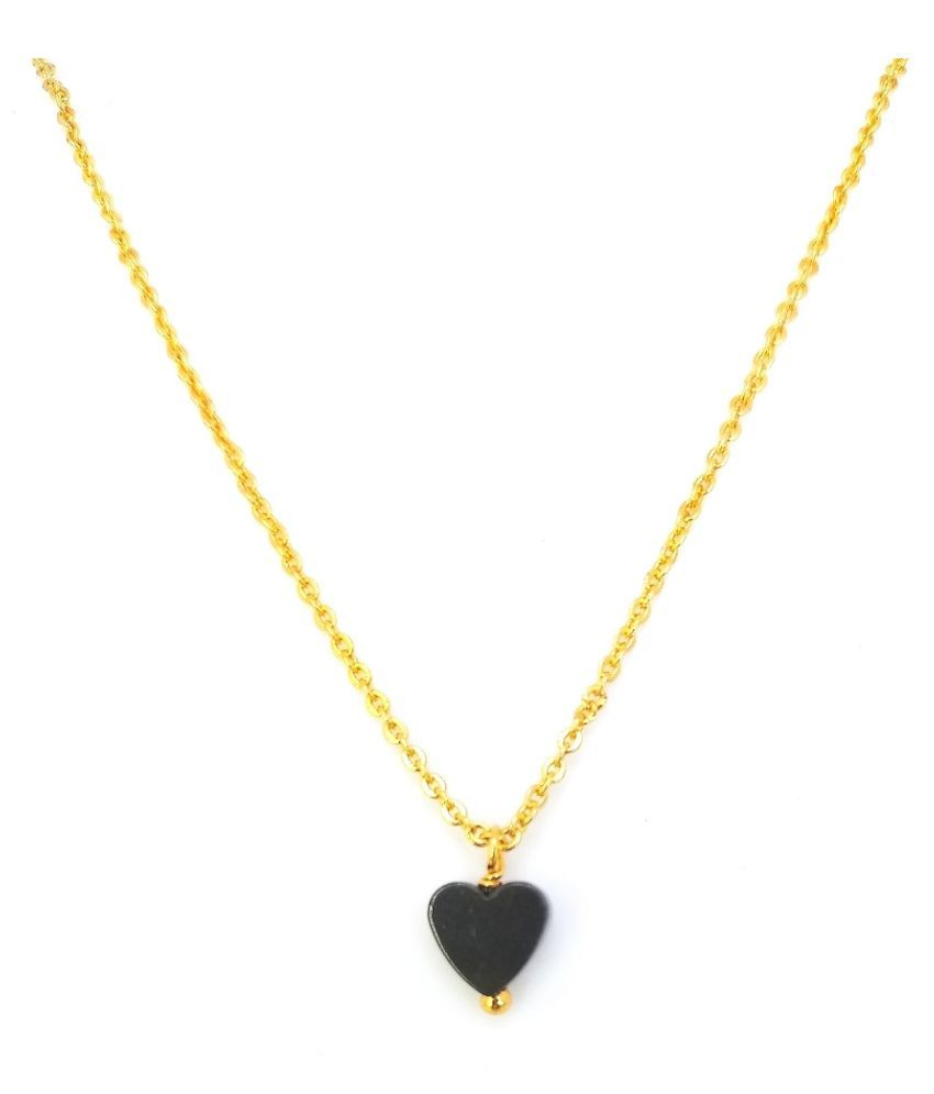 Soni gold plated chain pendant for women & girls (16 inches chain length )