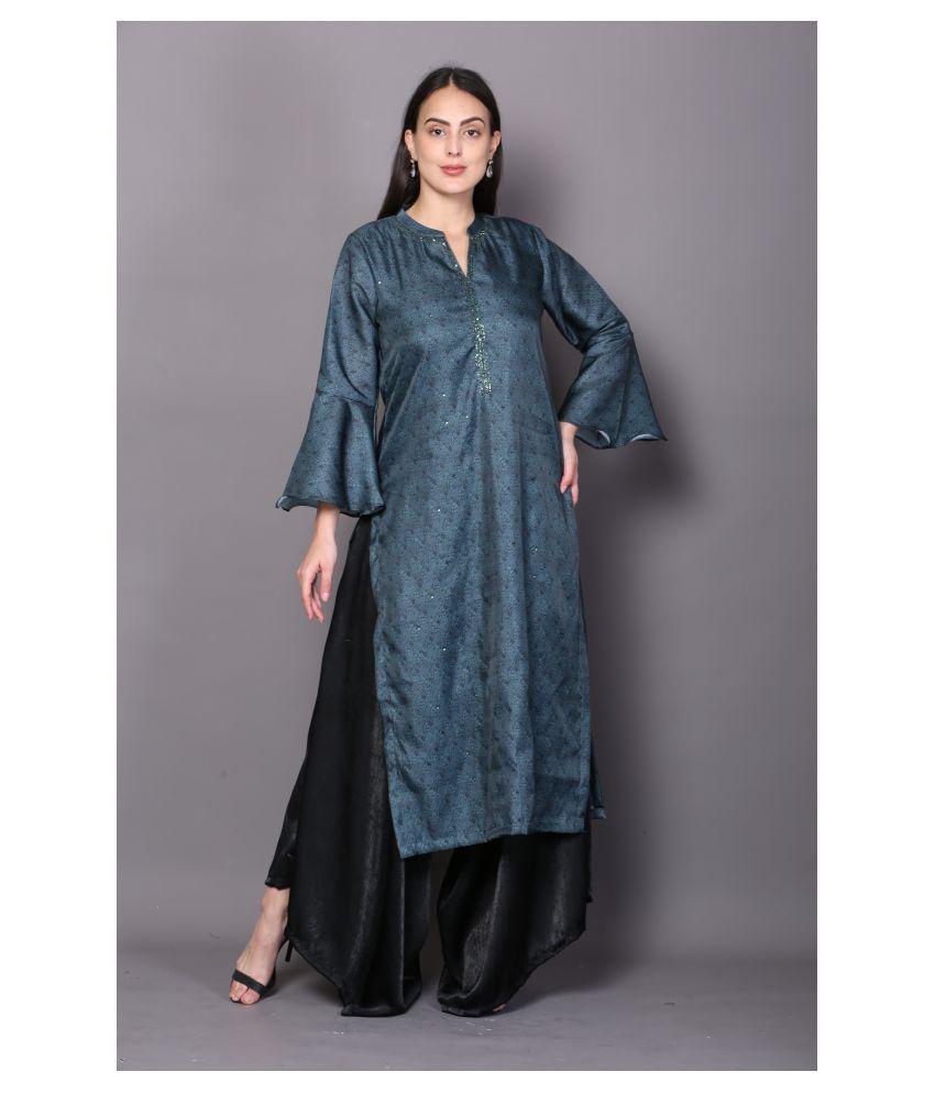 katyal's couture Green Rayon A-line Kurti