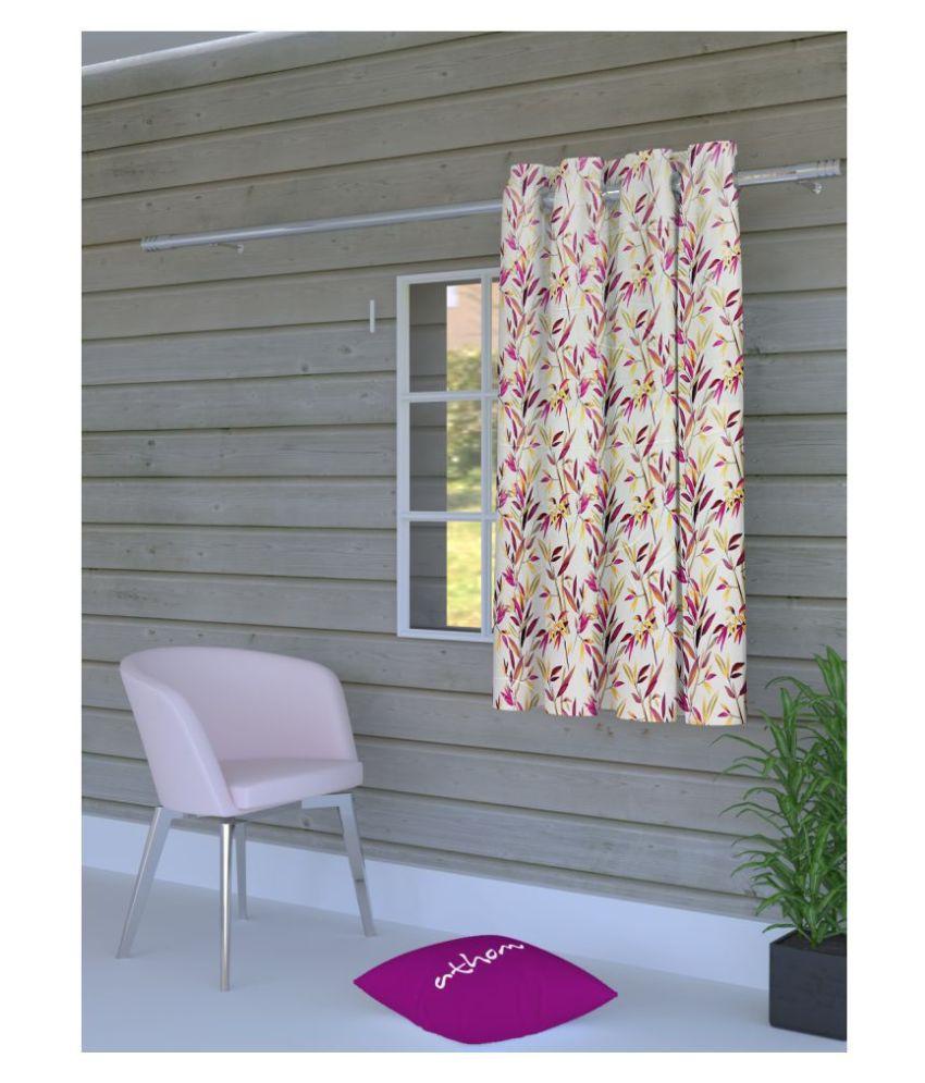 Athom Trendz Single Window Semi-Transparent Eyelet Polyester Curtains Multi Color